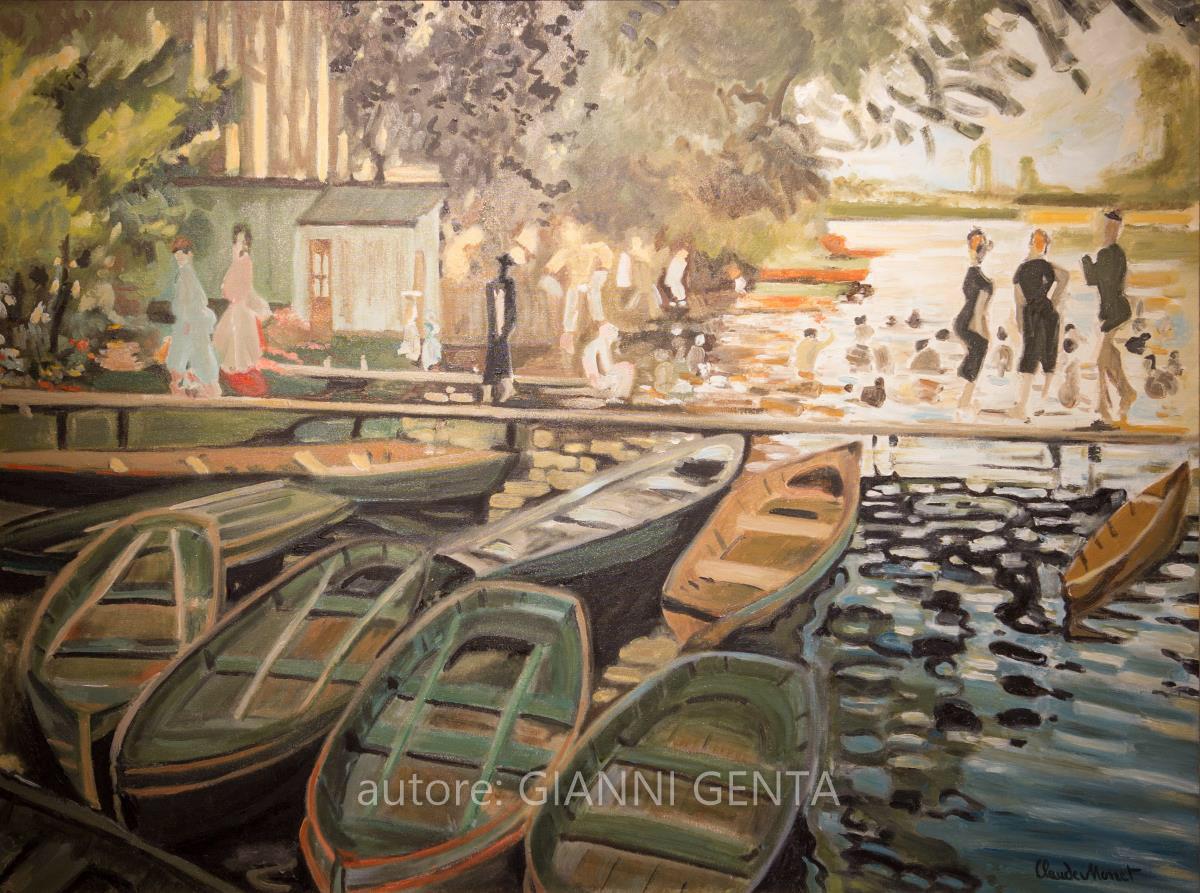Monet - Bagnanti alla Grenouillère - 80x60