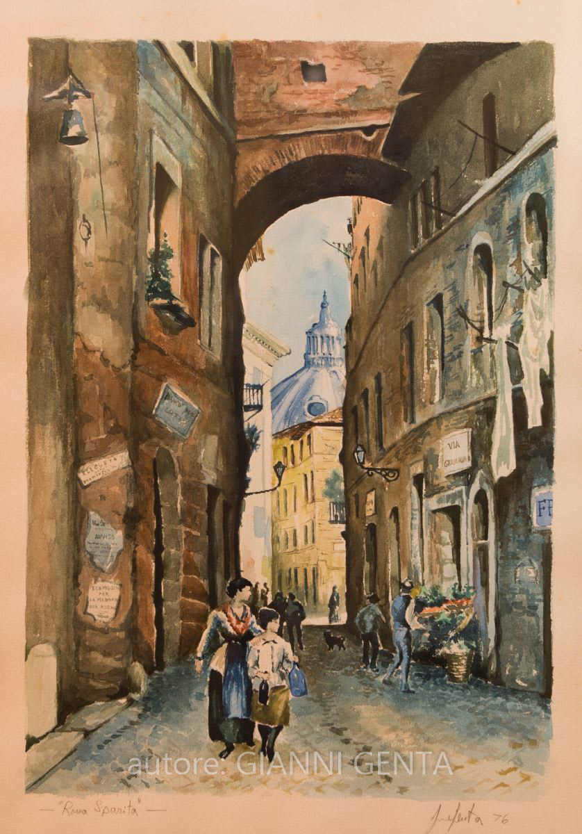 Watercolor of Rome Disappeared – n.3