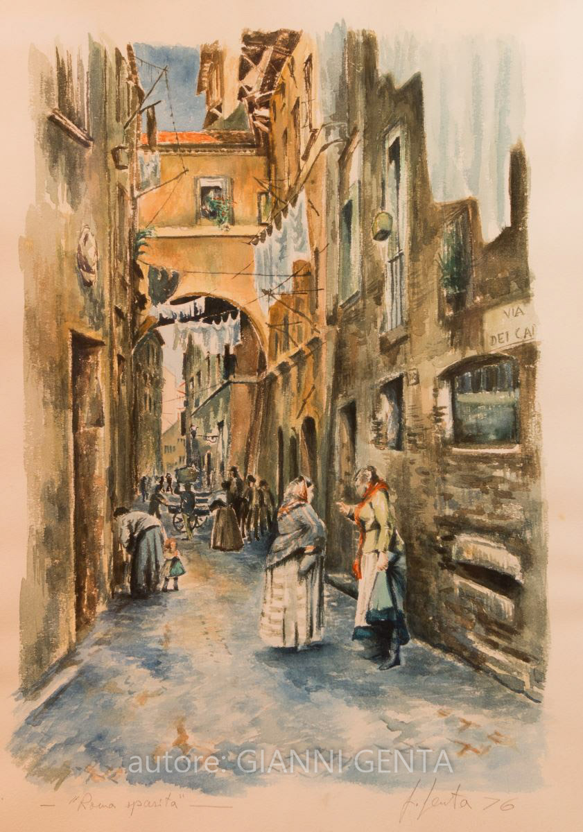 Watercolor of Rome Disappeared – n.5
