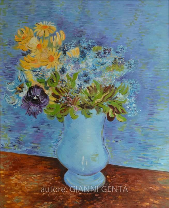 Vaso di Lillà, margherite e anemoni